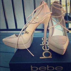 Bebe Ellodie nude heels size 8